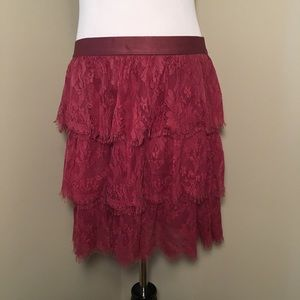 FOSSIL Lace Tiered Skirt